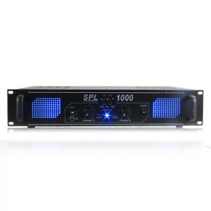 Skytec SPL-1000W Power Amplifier DJ Disco Party Home Audio HiFi Stereo Amp Aux