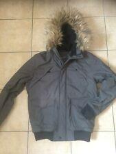 Primark Green Winter Coat Detachable Faux Fur Trim Small