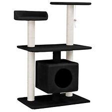 [en.casa]® Rascador para gatos árbol escalador negro de sisal para arañar