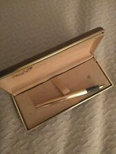 Gold Painted Metal Fountain Pen with Case, cartride needed