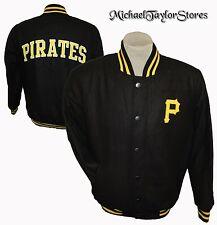Pittsburgh Pirates Snap Up Wool Winter Jacket Men's MLB Black G-III