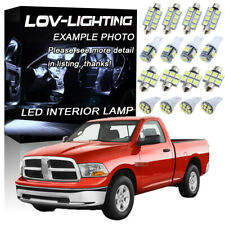 White 6K LED Interior kit + License Light For Dodge Ram 1500 2500 3500 2009-2016