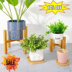 Wooden Shelf Rack Holder Plant Flower Pot Stand Wood Garden Display Holder Hot