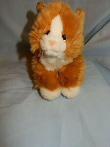 "Animal Alley Orange White Kitten Cat 9"" Cute and Fluffy!"