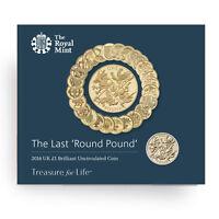 The Last Round Pound 2016 United Kingdom £1 Brilliant Uncirculated Coin BU