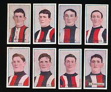 1908 1909 Sniders and Abrahams St Kilda Team set 8 Football cards Saints VFL r