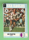 MISCUT 1977 MANLY SEA EAGLES SCANLENS RUGBY LEAGUE CARD #105 IAN MARTIN