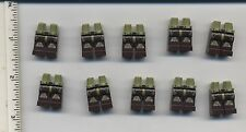 Star Wars LEGO x 10 Olive Green Hips and Dark Brown Legs with SW Clone Trooper
