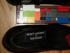 Stuart Weitzman 4 Martinique. Croc Alligator Black Python 8Aa Unused vintage.New