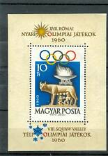 OLYMPIC GAMES ROME & SQUAW VALLEY HUNGARY 1960 bl A