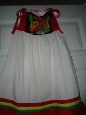 NEW!! Beautiful Red & White Girls Dress with Bird Size 4 5