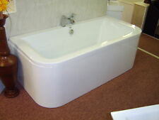 Whirlpool Bath DELTA 'D' shape  8 Jet Chrome  1700 x 750