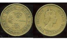 HONG KONG  ten 10 cents 1958
