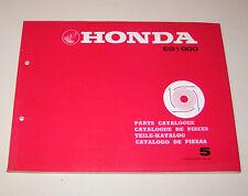 Catalogo Ricambi Honda Generatore Eg 1000 - Stand 1980