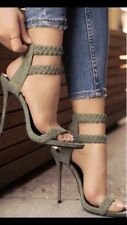 Lola Shoetique Olive Black Red Nude Heels Size 5.5 6 6.5 7 7.5 8 8.5 9 10