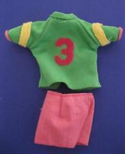 1970s vintage Kenner Dusty Doll clothes-1974 softball/baseball shorts/#3 shirt