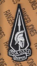 """10th Special Forces Group Airborne Sfga Oda 0324 Sniper w/ Hook 3.75"""" patch"""