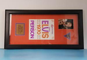 Original Elvis Presley Triangle Guitat Pick stage worn by Elvis during his 1970