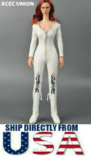 "1/6 Women White Leather Jumpsuit Siamese Corsetry For 12"" Figure - U.S.A. SELLER"