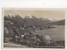 Tegernsee Gegen Wallberg Setzberg & Blauberg 1931 RP Postcard Germany 074b