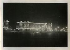 PHOTO ANCIENNE - VINTAGE SNAPSHOT - PARIS PLACE CONCORDE NUIT VERS 1930 - NIGHT