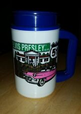 Elvis Presley Blvd Pink Cadillac Insulated Travel Mug/Cup 2002 Whirley 16 oz