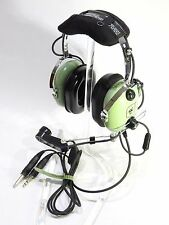 NIB DAVID CLARK H10-30 HEADSET GA/Dual Plugs  p/n 12508G-17 W/ free M-1 Cover