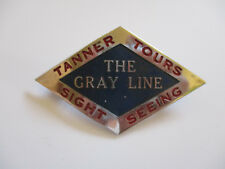 vintage 1930's Tanner Tours Bus Line Hat Cap Driver Employee Id Badge Pin