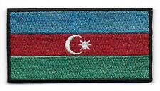 Embroidered AZERBAIJAN Flag Iron on Sew on Patch Badge HIGH QUALITY APPLIQUE