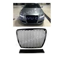 RS6 Look Front Grill Black DTM Mesh Honeycomb Grille for Audi A6 4F C6 S6 S line