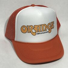 Orange Amplifier Trucker Hat Vintage Guitar Amp Music Band Bass Snapback Cap