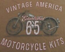 Retro Style Vintage American Motorcycle Kits Established 65 SS T Shirt Size L