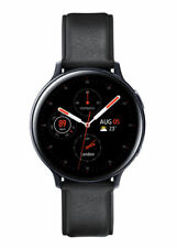 Samsung Galaxy Watch Active 2 44mm Caja de acero inoxidable con Correa de piel - Negro (Bluetooth)