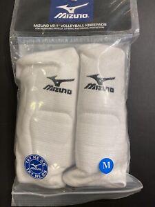 "Mizuno VS-1 Volleyball Kneepads Knee Pads  White NIP 8.5"" Sleeve Length Medium M"