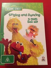 Sesame Street: Singing and Dancing (3 dvd box set) Get up and dance Region 4 NEW
