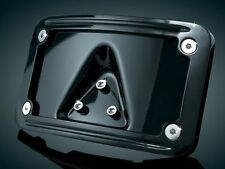 Curved Laydown License Plate Mount with Frame Kuryakyn Gloss Black 3148