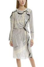 :) 3.1 Phillip Lim Print Silk Ruffle Dress 8 NWT $895