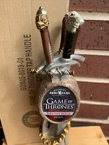"GAME OF THRONES TAKE THE BLACK BEER KEG tap handle. NEW YORK 11"" TALL NEW In BOX"