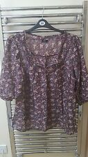 NWOT F&F vintage style cotton smock top s20