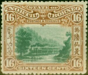 North Borneo 1902 16c Green & Chestnut SG107 Fine Mtd Mint