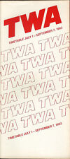 TWA system timetable 7/1/83 [308TW] Buy 2 Get 1 Free