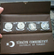 Turkey 1960-1972 Mint Pack Set of 4 Silver Coins,Proof