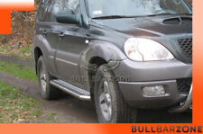 HYUNDAI TERRACAN 2002-2004 MARCHE-PIEDS INOX PLAT / PROTECTIONS LATERALES