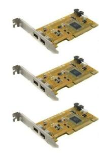 Lot of 3 HP iEEE 1394 2-Port RoHS FireWire PCI Card 441448-001