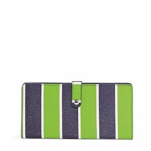 "Vera Bradley Slim Travel Organizer Beautiful Retired Pattern ""Lucky Stripe"""
