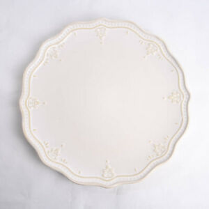 "Pioneer Woman Farmhouse Lace Linen Scalloped 10.75"" Dinner Plate Replacement"