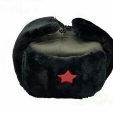 Chinese Russian Winter Army Trooper Hats Ushanka Warm Cap Red Star Badge Green