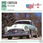 CHRYSLER NEW YORKER 1953 1954 CAR VOITURE UNITED STATES CARTE CARD FICHE