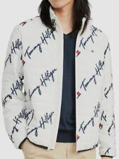 $295 Tommy Hilfiger Mens White Blue Insulated Puffer...