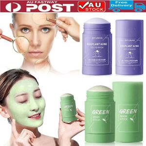 Green Tea Purifying Clay Stick Mask Oil Control Anti-Acne Eggplant Fine Solid AU